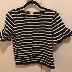 Stripe short sleeve J. Crew shirt